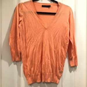 Limited v-neck light peach sweater Small